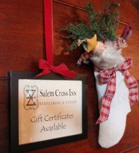 Gift Certificates available at Salem Cross Inn in West Brokkfield, MA