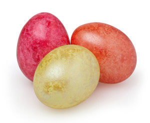 Easter eggs + clipping path