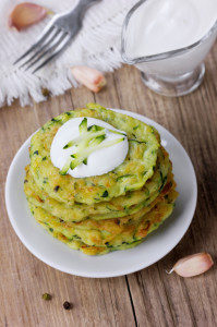 Pancakes with vegetable zucchini