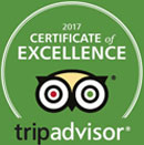 Trip Advisor Certificate of Excellence 2017 -- Salem Cross Inn, West Brookfield, MA!